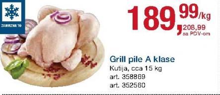 Smrznuto pile grill