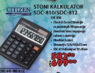 Stoni kalkulator SDC-805/810