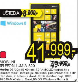 Mobilni telefon LUMIA 820