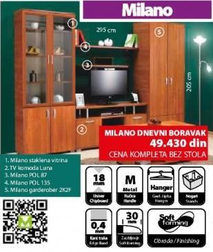 Dnevna soba Milano