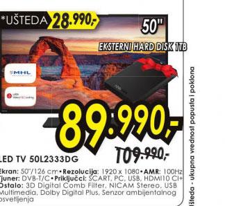 Televizor LED LCD 50L2333DG +poklon HDTB 110