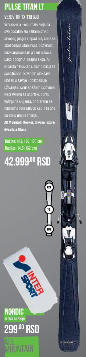 Skije Pulse Titan LT, Technopro