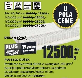 Dušek Plus S20 180x200cm