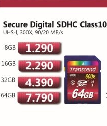 Secure Digital SDXC Class10 64GB