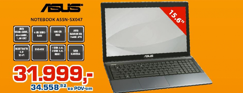 Notebook A55N-SX047