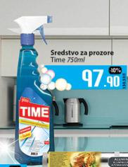 Sredstvo za čišćenje staklenih površina Time