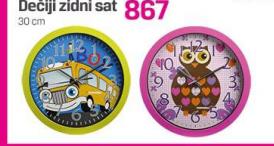 Zidni sat dečji