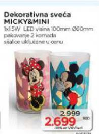 Dekorativna sveća Micky&Mini