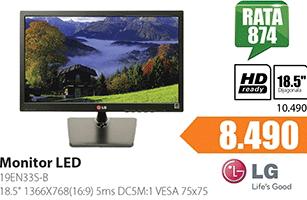 "Monitor 18.5"" 19EN33S-B LED"