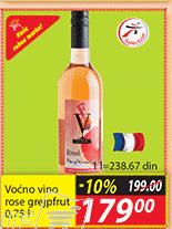 Aromatizovano vino rose grejpfrut