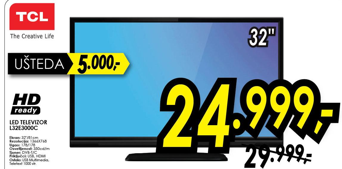 TCL LED televizor L32E3000C