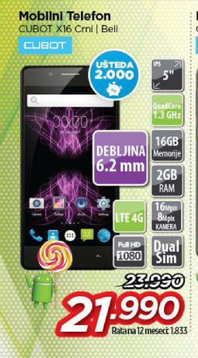 Mobilni telefon Cubot X16