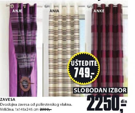 Zavesa ANJE/ANIA/ANKE