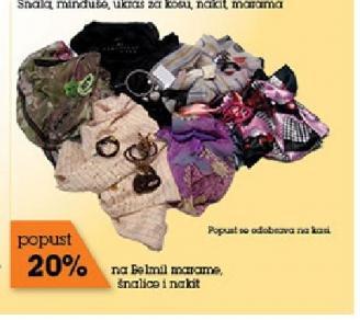 -20% na šnale, minđuše, ukrasi za kosu, nakit