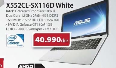 Laptop X552CL-SX116D