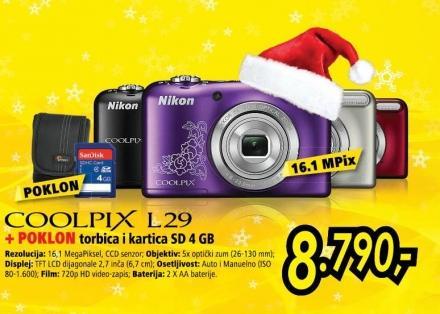 Digitalni fotoaparat Coolpix L29