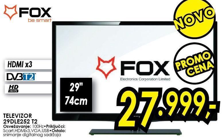 "Televizor LED 29"" 29dle252 T2"