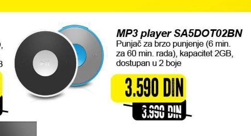 Mp3 plejer SA5DOT02BN/12