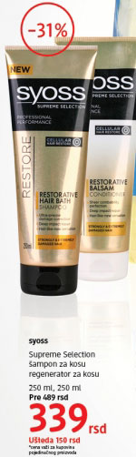Šampon za kosu Supreme Selection
