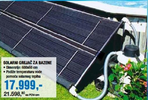 Solarni grajač za bazene