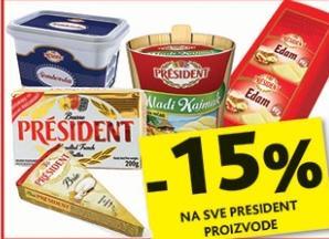 Na sve President proizvode