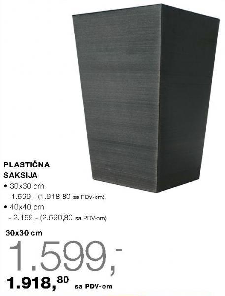 Plastična saksija 30x30
