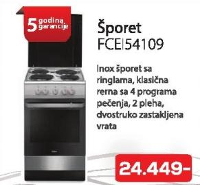 Šporet Fcei 54109