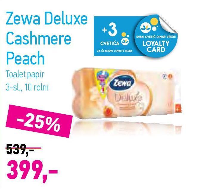 Toalet papir 3sl cashmere peach