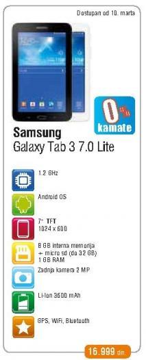 Tablet Galaxy Tab 3 7.0 Lite
