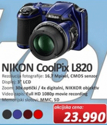 Fotoaparat Coolpix L820
