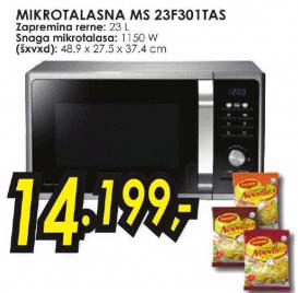 Mikrotalasna rerna MS 23F301TAS