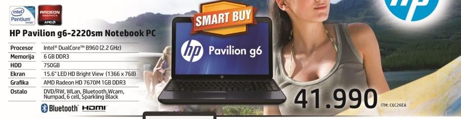 Laptop Pavilion G6-2220SM