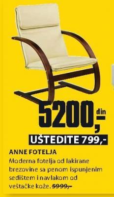 Fotelja ANNE