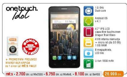 Mobilni telefon One Touch Idol