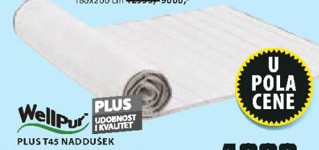 Naddušek Plus T45, 140x200cm