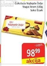Čokolada nugat krem