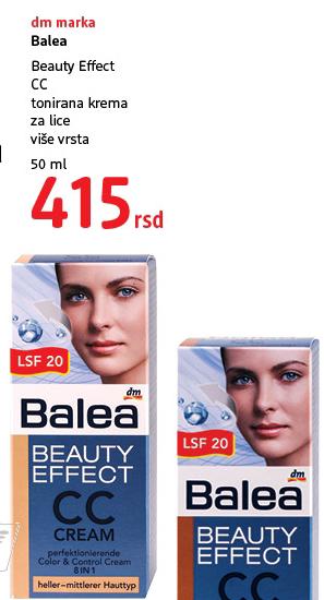 Beauty effect CC tonirana krema za lice