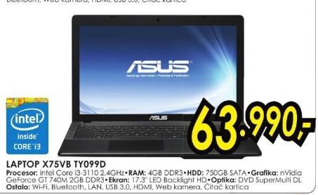 laptop X75vb Ty099d