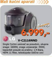 Usisivač V-C2116NND