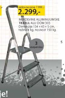 Aluminijumske merdevine Texell Alu dom 303