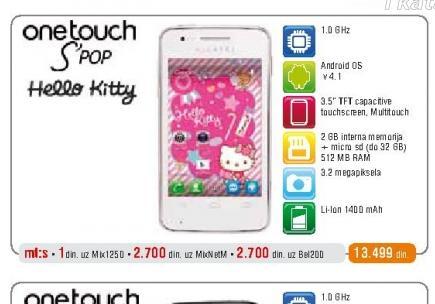Mobilni telefon OT 4030 S Pop Hello Kitty