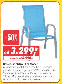 Baštenska stolica Eco Stapel
