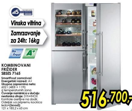 Kombinovani frižider Sbses 7165