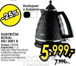 Električni bokal Kbj 2001 B