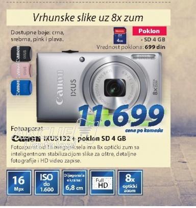 Fotoaparat IXUS132