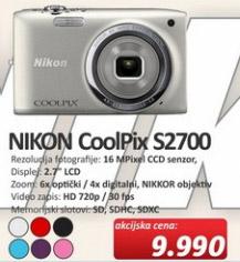 Digitalni Fotoaparat CoolPix S2700