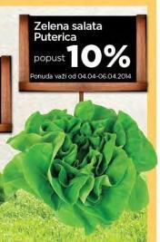 10% popusta na zelenu salatu