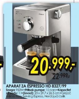 Aparat za espresso HD 8327/99