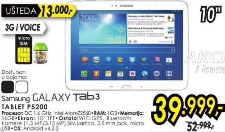 Tablet Galaxy Tab3 P5200
