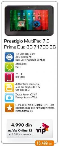 Tablet MultiPad 7.0 Prime Duo 3G 7170b